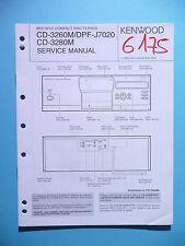 Manuel de reparation pour Kenwood cd-3260m/cd-3280m/dpf-j7020,original