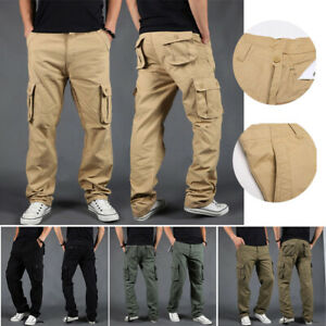Men Side Pockets Harem Joggers Cargo Pants Hip Hop Casual Streetwear Trousers