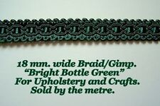 """Bottle Green, Upholstery Braid (sold by the mtr) 18mm (3/4"""") wide"""