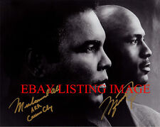 MUHAMMAD ALI AND MICHAEL JORDAN AUTOGRAPHED 8x10 RP PHOTO THE GREATEST ATHLETES