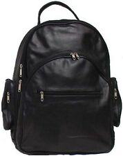 Genuine Cowhide Leather Zip Around Backpack Bag BLACK 2431