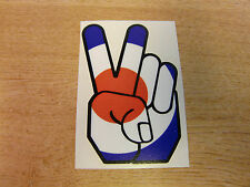 Peace Hand - sticker bomb / rat look - decal 4in (100mm) - RAF / MOD Roundel