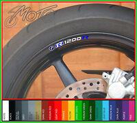 8 x BMW R1200R Wheel Rim Decals Stickers - r 1200 R