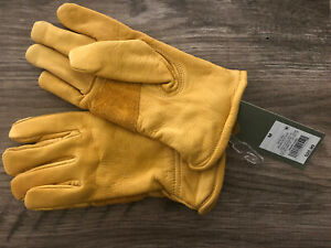 Goodfellow & Co Gloves Men's Belly Side Cow Leather Nylon Lined Yellow Med