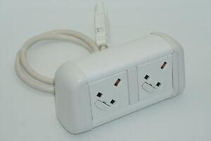 CONTOUR UK Power Socket 1m mains lead to Contour 3 pole connector code 94PS07GST