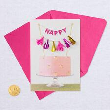 Hallmark Signature  Birthday  Card -  3D Glittery Flag Banner