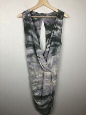 Young Fabulous & Broke Womens Stretchy Ruched Tie Dye Open Back Dress Size Small