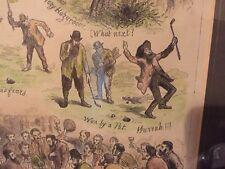 Antique Golf Print Framed The Royal And Ancient Game Of Golf 1877 Rare Original