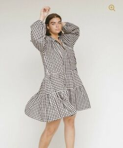 """The Lullaby Club """"Avalon Gingham Smock Dress"""" size XS"""
