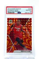 Kendrick Nunn 2019-20 Panini Mosaic Reactive Orange Rookie PSA 10 #234 RC Heat