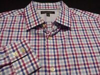 Banana Republic Mens Large Long Sleeve Button-Front Multicolor Plaid Check Shirt