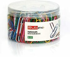 Rubex Paper Clips Small And Large Sized Assorted Colored 500 Count