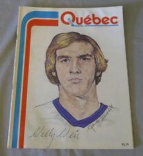 1976-77 WHA Quebec Nordiques vs Indianapolis Racers Hockey Program