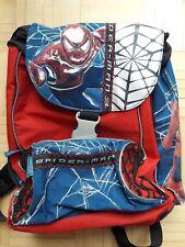 Cooler Spiderman Schul-Rucksack rot-blau, großes Spiderman Logo vorne