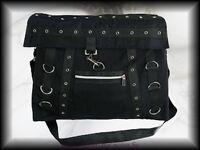 Gothic Punk  Tasche Handtasche schwarz Karabiner D-Ringe Metal Industrial
