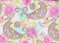 BTY Nostalgic BIRDS & BLOOMS Print 100% Cotton Quilt Crafting Fabric by the Yard
