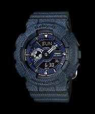 BA-110DC-2A1 Black/Blue Casio Baby-G Ladies Watches Resin Band Fashion New Box