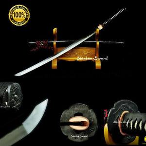 Top Saka-Choji Hamon Clay Tempere Japanese Samurai Katana Sword T10 Steel Blade