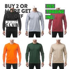 PROCLUB PRO CLUB MENS CASUAL LONG SLEEVE T SHIRT HEAVYWEIGHT SHIRTS BIG AND TALL