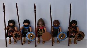 Playmobil Greek   5 x Assorted Spartans    Good Condition