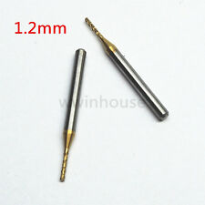 10pcs 1.2mm Titanium Coated Carbide End Mill Engraving Bits Milling Cutter