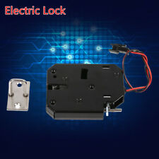 Electric Magnetic Lock Door Access Control DC 12V Cabinet Drawer Counter Black