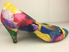 Vintage Joyce Women's Floral High Heels Causal Pumps Size 7M.  T1