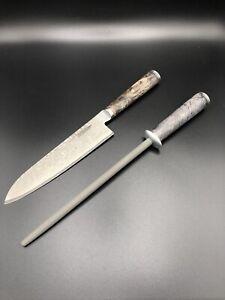 Miyabi Black 5000MCD67 Chef's Knife And Ceramic Steel