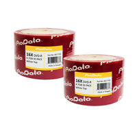 100 PioData Blank DVD-R DVDR 16X 4.7GB White Top Recordable Media Disc 832-710