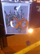 Letter O Initial Earrings New Reflective Tiger Olivia Olga Odessa Onyx