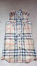 Burberry Nova Check filles robe de coton Taille 10 RRP £ 155