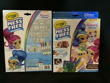 Lot Of 2 - Crayola Color Wonder Shimmer & Shine, Glitter Art & No Mess Markers