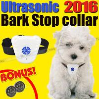 Bark Stop Pet Dog Training Collar Ultrasonic Anti Barking Control Waterproof