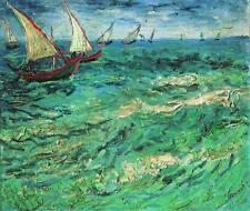 Van Gogh Painting Reproduction Canvas Wall Art Print Home Decor Sailing Boats