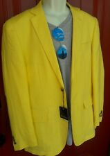 Alan Flusser Mens Blazer Jacket Sport Coat YELLOW LINEN Medium M NEW HOT CHIC