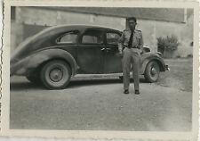 PHOTO ANCIENNE - VINTAGE SNAPSHOT - VOITURE AUTOMOBILE SOLDAT - CAR SOLDIER