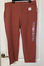New Old Navy Pixie Size 18 High Rise Pink Dots Pants Stretchy Secret Slim Pocket