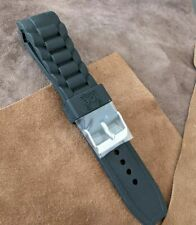 20mm Black Ice Watch  Replacement strap   silver buckle