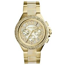 ** New **  Michael Kors® MK5902 Camille Chronograph Champagne Dial Horn Acetate
