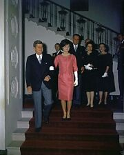 President and Mrs. John F. Kennedy at Diplomatic Corps reception New 8x10 Photo