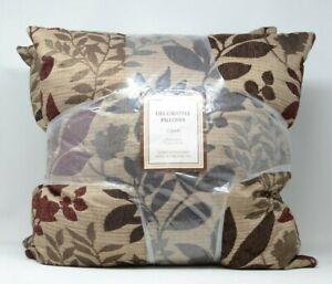 "Decorative Pillow 2 Pack Leaf Foliage 20"" x 20"""