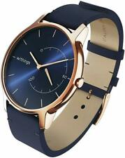 Withings Move Timeless Activity Sleep Tracking SmartWatch Rose Gold Blue Leather