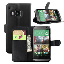 Black PU Leather Case With Stand Card Pocket Cover Holder Wallet For Phones