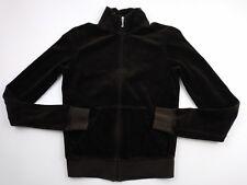 Juicy Couture Women's Brown Velour Full Zip Sweatshirt Size Petite
