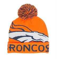 Denver Broncos New Era NFL COLOSSAL Knit Orange Pom Cuffed Hat