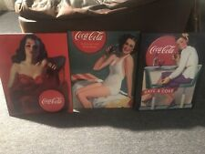 Coca Cola Pin Up Signs (set of 3)