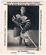 1956-57 Hygrade Frankfurt Hockey Card Contest Card Guy Rousseau