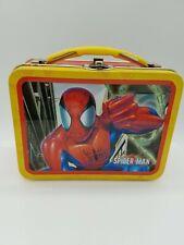 Marvel Spider-man Metal Mini Lunch Box 2003 Tin Box