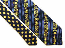 GIANNI VERSACE VINTAGE '80 Cravatta Seta Uomo Optical Silk Man Tie With Tag