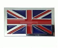 England UK Britain Flag Badge Chrome Metal Side Rear Trunk Emblem Badge Sticker